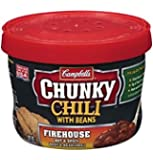 Campbell's Chunky Firehouse Hot and Spicy Chili with Beans, 15.25 oz, 8 Per Case