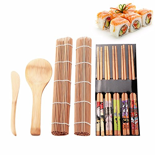Fu Store Sushi Making Kit Set 9 PCS-Sushi Rolling Mats