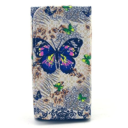 F350 Case LG Optimus G Pro 2 F350 Wallet Flip Case,MOUSE Monster F350 Case LG Optimus G Pro 2 F350 Wallet Flip Case,Stylish Beautiful Butterfly Elf Pattern Luxury PU Leather Wallet Fold Protective Skin Case with Metal Buckle for LG Optimus G Pro 2 F350(Built-in Credit Card/ID Card Slots)
