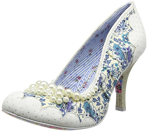 Irregular Choice Damen Pearly Girly Pumps White (White)