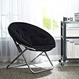 Urban Shop Faux Fur Saucer Chair with Metal