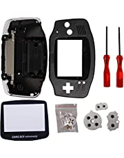 GBA Shell, Timorn Full Parts Replacement Housing Shell Pack for Game Boy Advance (Black)