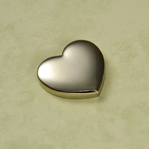 CenterGifts Beautiful Shiny Silver Heart Magnet with Custom Engraved Name Text (Shiny Silver Heart Magnet)
