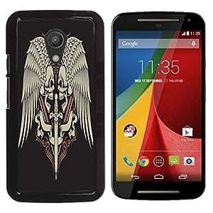 Dragon Case - FOR Motorola G 2ND GEN II - Life is painting a picture - Caja protectora de pl??stico duro de la cubierta Dise?¡Ào Slim Fit