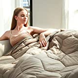 YEMYHOM 100% Cotton Weighted Blankets Adult 15 lbs 60