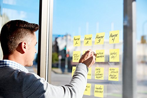 Post-it Super Sticky Pop-up Notes, 2x Sticking Power, 3 x 3-Inches, Canary Yellow, 12-Pads/Pack by Post-it (Image #3)