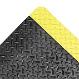 NoTrax Vinyl 479 Cushion Trax Anti-Fatigue Mat, for Heavy-Traffic Dry Areas, 3' Width x 12' Length x 9/16'' Thickness, Black / Yellow