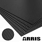 ARRIS 2.5mm 400X500X2.5MM 100% 3K Carbon Fiber Plate Plain Weave Panel Sheet (Glossy Surface)
