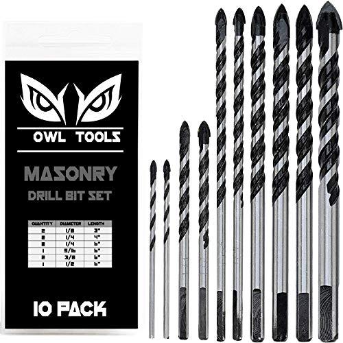 10 Piece Masonry Drill
