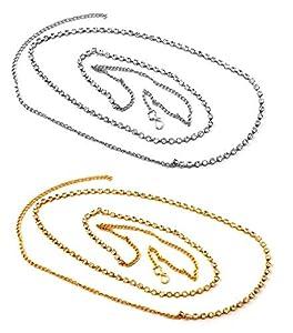 Vama Fashions Gold & Silver Plated Komor Bandhan Kamarband Kamarpatta Belly Hip Chain Waist Belt for Women & Girls