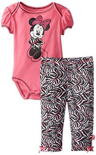 Disney Baby Girls recién nacido Minnie Mouse Body y Pant de cebra ...
