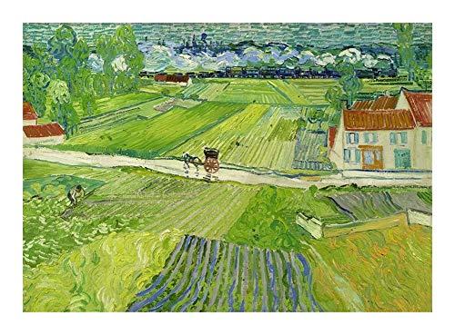 Puzzle Oil World Famoso Cuadro del Rompecabezas de Rompecabezas -La despues de la Lluvia en Off de Van Gogh 300/500/1000 Piezas for Adultos Adolescentes Relax Juguete de Regalo