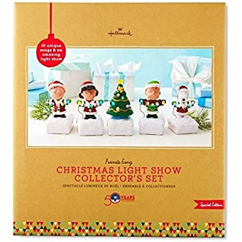 Amazon.com: Hallmark Peanuts Gang Wireless Band Christmas Light ...