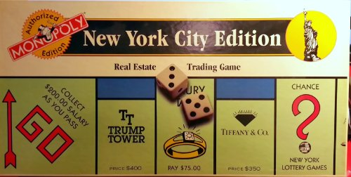 1995 New York City Monopoly Game (Authorized Edition)