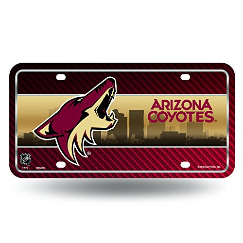NHL Arizona Coyotes Metal License Plate Tag
