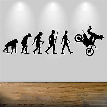 Venta Arte Moto Evolución Cruzada Dormitorio Bicicleta Deporte Casa Habitación Etiqueta Salón Sala De Juegos Sala De Juegos pegatina de pared frases pegatinas decorativas pared: Amazon.es: Bricolaje y herramientas