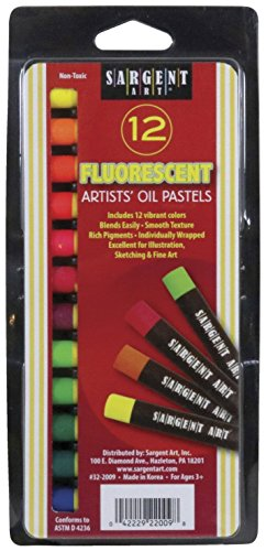 Sargent Art 32-2009 Gallery Oil Pastels, 7/16'' x 3-1/4'' Size, Assorted Fluorescent by Sargent Art