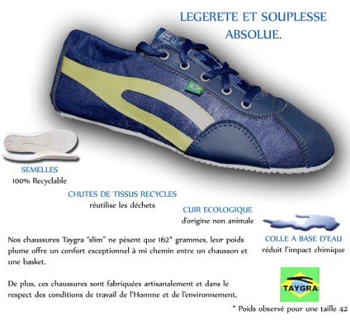 TAYGRA - Baskets homme Slim Bleue/Anis Dernières paires 36 & 39
