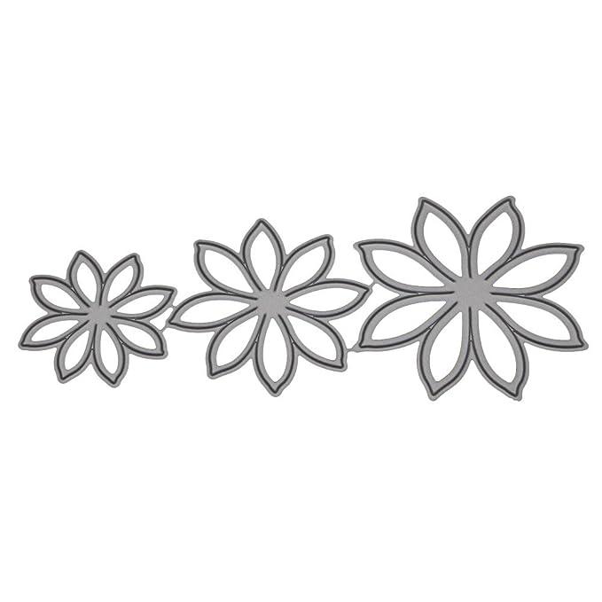 Plantillas de metal con diseño de corazón de flores, para manualidades, álbum de recortes, tarjeta de papel: Amazon.es: Hogar