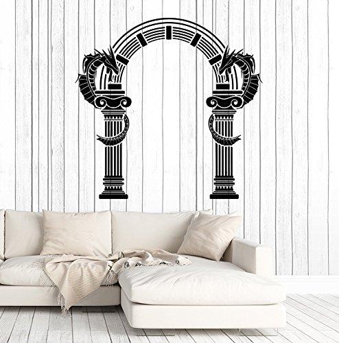 Vinyl Wall Decal Ancient Greek Column Arch Dragons Decor Stickers Large Decor SX6g]()
