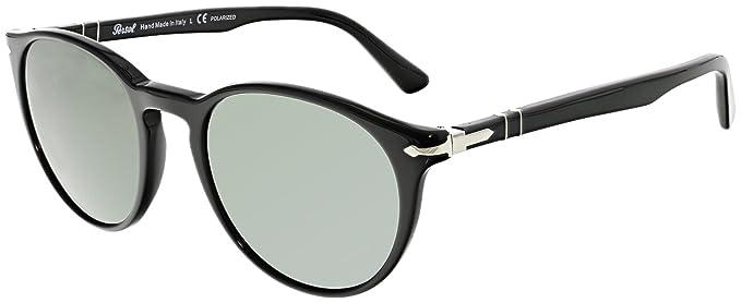 edda898149 Persol Mens Sunglasses (PO3152) Black Green Acetate - Polarized - 52mm