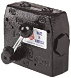 "Prince RD-150-16 Flow Control Valve, Adjustable Pressure Relief, Cast Iron, 3000 psi, 0-16 gpm, 1/2"" NPTF"