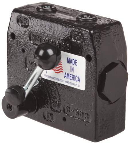 (Prince RD-150-16 Flow Control Valve, Adjustable Pressure Relief, Cast Iron, 3000 psi, 0-16 gpm, 1/2