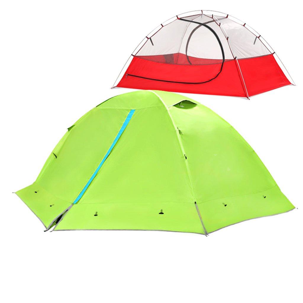 TENT-L ZP Zelt, Zelt im Freien Sturm Prävention Ultralight Hand Ride Aluminium Rod Individuelle 2 Personen Camping huwaizhangpeng (Farbe : Grün, größe : 2)