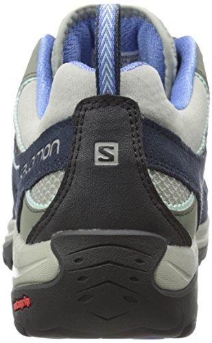W Blue Women's Aero Rise Blue Ellipse Titanium Deep Petunia Shoes Blue Salomon Hiking 2 Low IZHaww