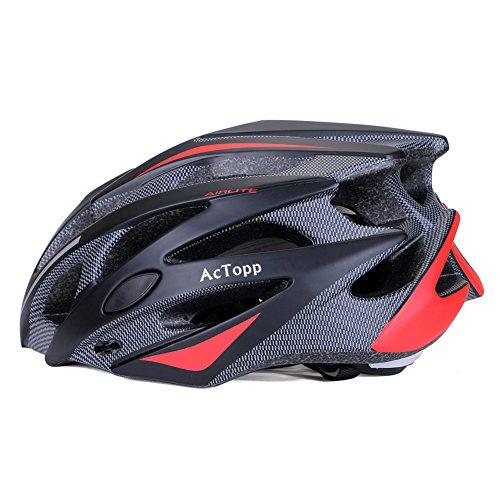 AcTopp Fahrradhelm Radhelm Helm mit Sicherheitszertifikat Speziell für Radtouren Mountainbiking Hochwertig Bequem Leicht Atmungsaktiv für Herren Damen Teenager
