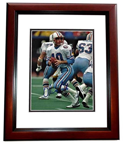 14393aefd Oliver Luck Autographed Photo - 8x10 MAHOGANY CUSTOM FRAME - PSA/DNA ...