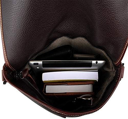 Color : Black White wolf Mens Messenger Bag Leather Messenger Bag Men and Women Leather Messenger Bag Leather Shoulder Bag