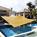 DOEWORKS Rectangle 13' X 20' Sun Shade Sail with