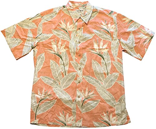 Hawaiian Shirt Street (Cooke Street Men's Honolulu Classic Hawaiian Shirt (Orange/Tropical Print, Large))