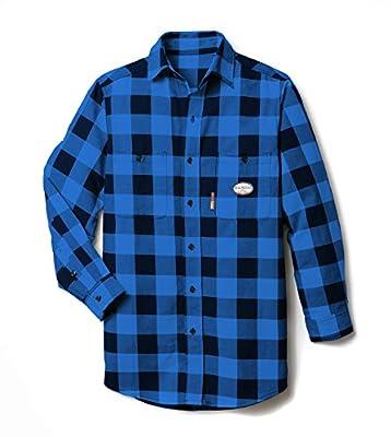 Rasco FR Dress Shirts - Black/Blue Plaid