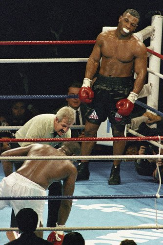 Mike Tyson boxing legend in the ring fight 24x36 Poster