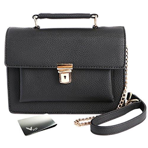 kilofly ,  Damen Tornistertasche , schwarz - schwarz - Größe: One Size