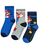 Super Mario Assorted 3 Pack Boy's Socks (9-11.5)
