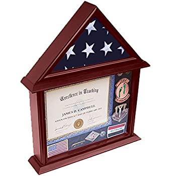 Amazon.com - DECOMIL 3x5 Flag Display Case with Certificate and ...