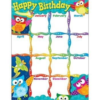 owl birthday chart for classroom - 2
