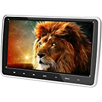 Alondy Car DVD Headrest Players 10.1 Inch Monitor 1024 x 600 LCD Screen HDMI USB SD IR/FM for Kids
