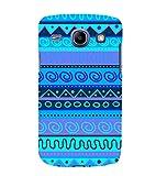 Fiobs Designer Back Case Cover for Samsung Galaxy Core I8260 :: Samsung Galaxy Core Duos I8262 (Multicolor Ethnic Design Blue)