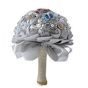 Luxury Artificial Flowers Silk Rose Bridal Wedding Bouquet 59