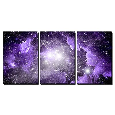Delightful Style, Stars of a Planet and Galaxy in a Free Space x3 Panels, That You Will Love