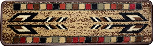 (Dean Non-Slip Tape Free Pet Friendly Stair Gripper Carpet Stair Treads - Santa Fe Beige 31