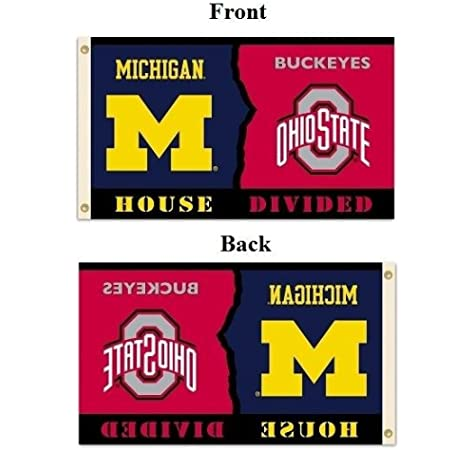 Amazon Com Ncaa Michigan Ohio State Rivarly House Divided Flag With Grommets Sports Fan Outdoor Flags Garden Outdoor