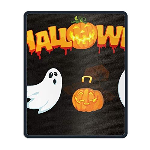 Mouse Pads Halloween Ghost Theme Computer Mouse Mat- Stylish, Durable Office Accessory and Gift -