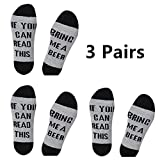 Funny Socks for Men Crew socks with Fun Saying On Bottom Bring Me a Beer Whisky