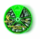 Eagle Claw Bass Casting Sinker Assortment, 27 Piece (Silver)