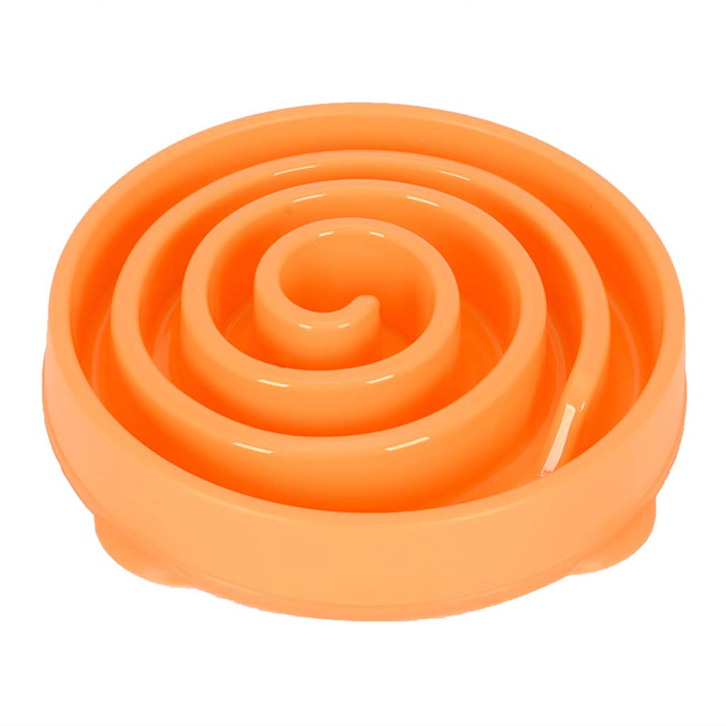 L-0.35kg Plastic Dog Cat Bowl Design Slow Food Bowl to Prevent The Rise of The Belly for Pet Food (Size   L-0.35kg)